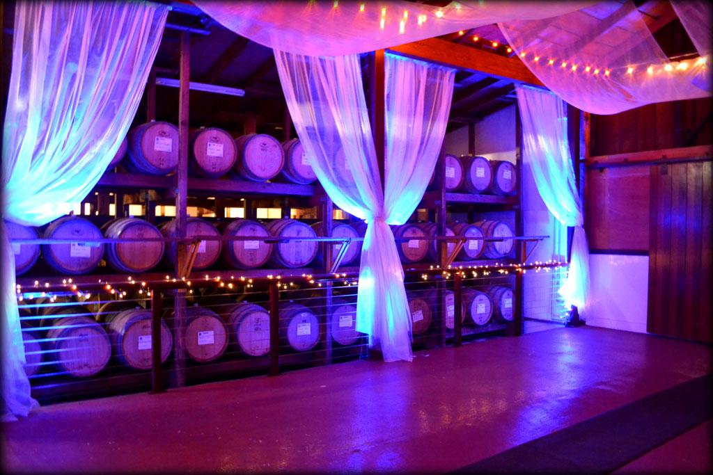 Barrel Room with Uplighting